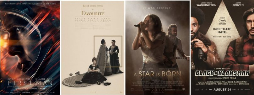 Awards season 2019 posters- Favourite, A star is born, First Man, Blackkklansman
