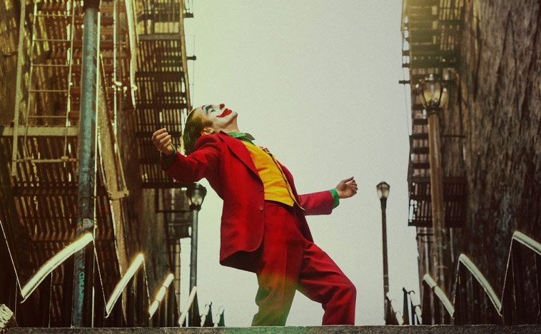 joker 2019 poster review joaquin phoenix stairs