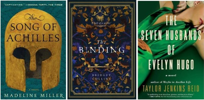 books I read in 2019: song of achilles, the binding, seven husbands of evelyn hugo